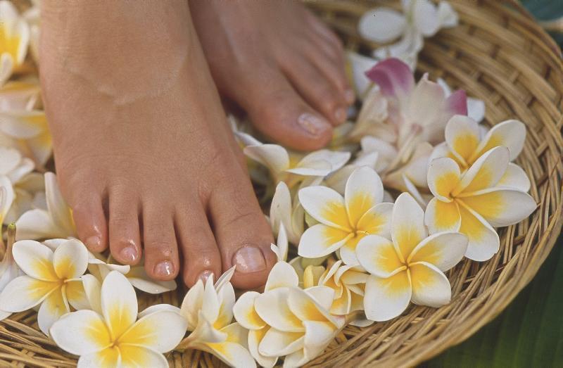 Bodycare. Feet in Flower Bowl. JPEG