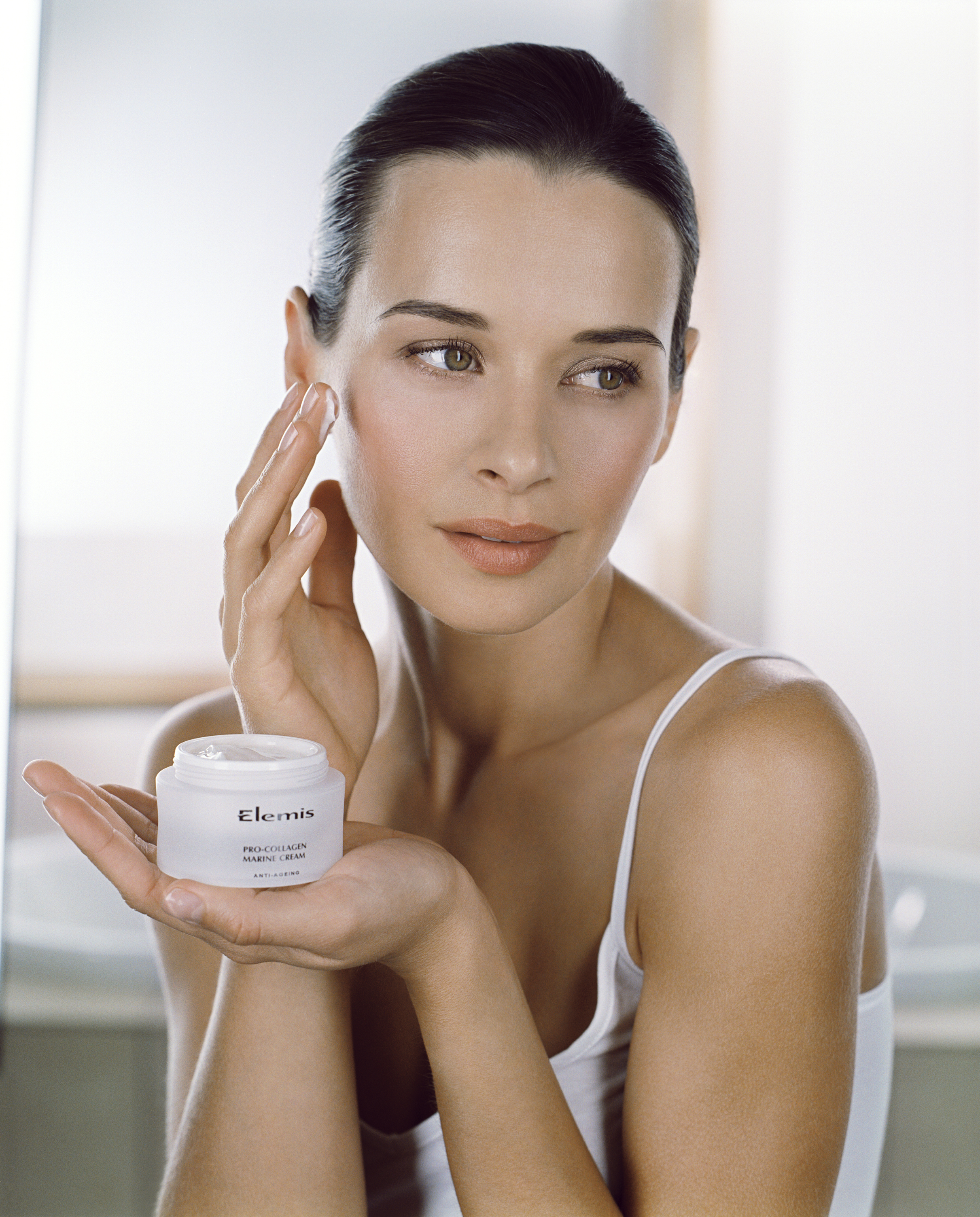 Female Holding PCMC. Model Image. JPEG. MODEL USAGE RIGHTS: This image can ONLY be used in conjunction with the ELEMIS brand. It can ONLY be used for PR, In-Store (Spas, Stockists), Limited Printed Materials, Trade Advertising and Online. It CANNOT be used for any NATIONAL ADVERTISING CAMPAIGNS. Expires: October 2016.