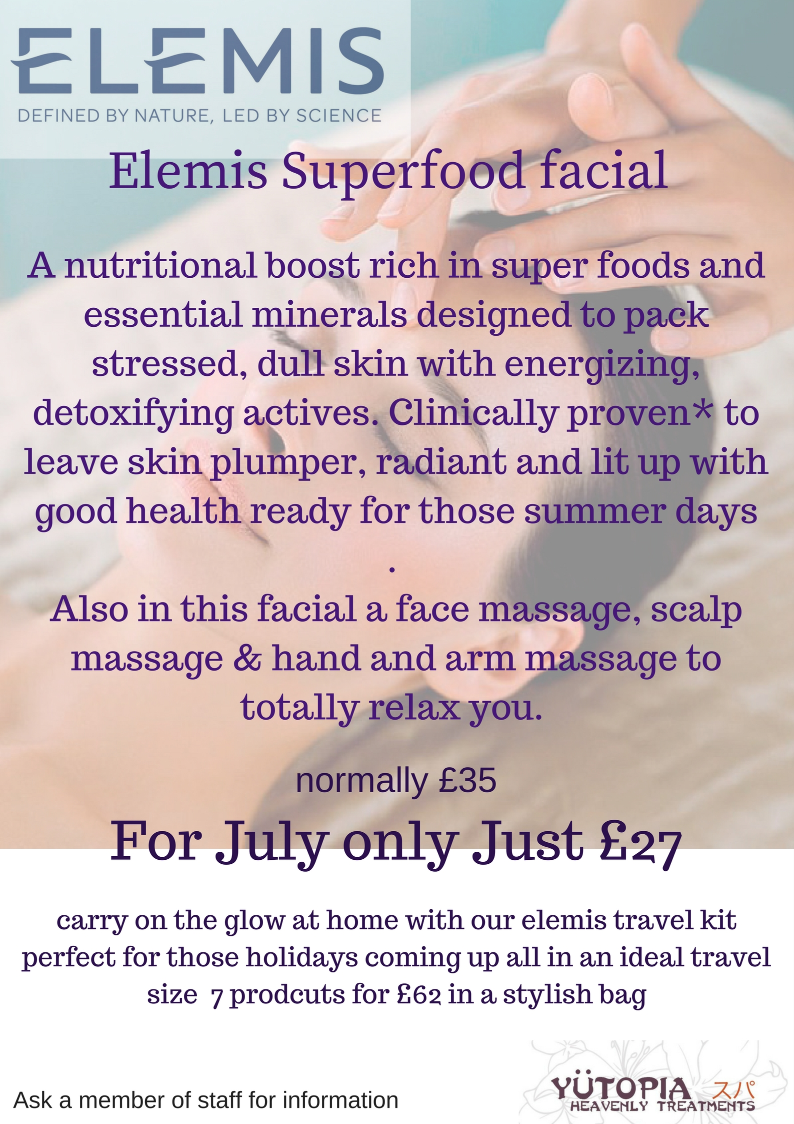 facial offer july